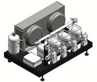 Mini Multicompressor Pack System: With Hermetic Compressors and Built-in Air Cooled Condenser